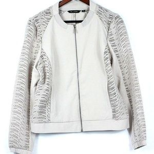 H by Halston Zip Front Bomber Jacket w/ Lace